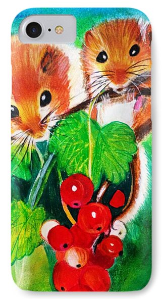 Ripe-n-ready Cherry Tomatoes IPhone Case by Renee Michelle Wenker