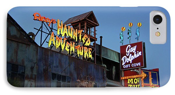 Ripleys Haunted Adventure And The Gay Dolphin-myrtle Beach South Carolina Phone Case by Suzanne Gaff