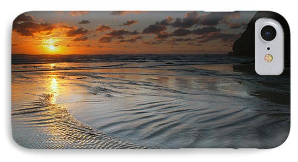 Ripples On The Beach Phone Case by Mike  Dawson