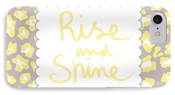 Rise And Shine- Yellow And Grey IPhone Case by Linda Woods