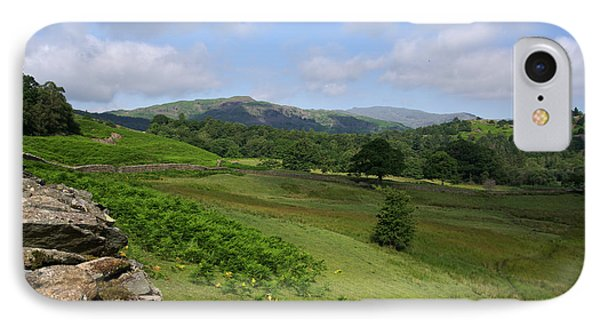 Rising From Rydal Cumbria IPhone Case by Graham Hawcroft pixsellpix