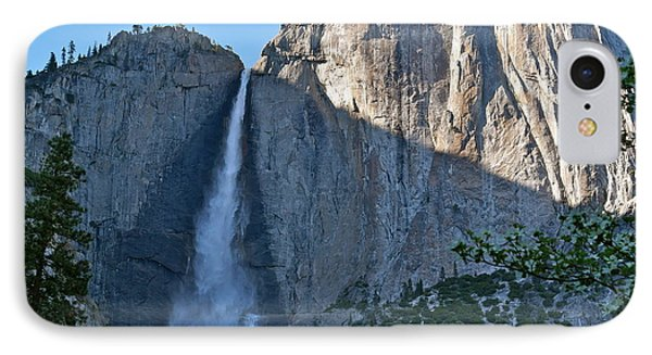 Rising Sun At Upper Yosemite Falls IPhone Case by Michele Myers