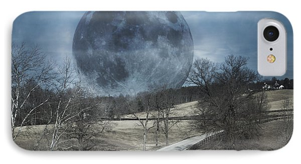 Rising To The Moon IPhone Case by Betsy Knapp