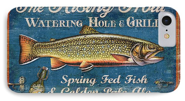 Rising Trout Sign Phone Case by JQ Licensing