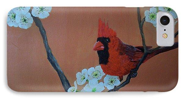 Rita's Redbird For Kevin Phone Case by Barbara Samples