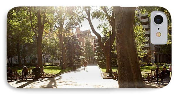 Rittenhouse In The Sun IPhone Case by Christopher Woods