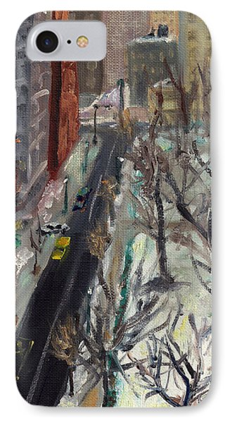 Rittenhouse Square In The Snow IPhone Case by Joseph Levine