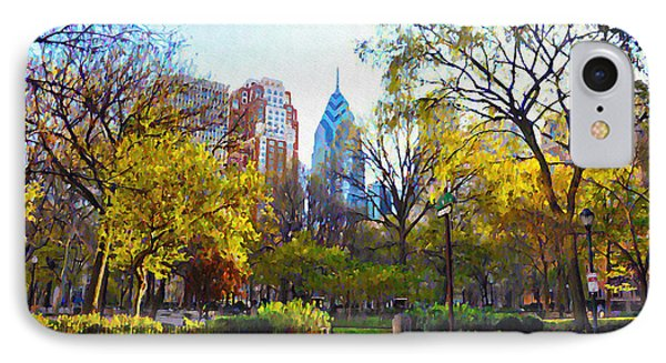 Rittenhouse Square In The Spring Phone Case by Bill Cannon