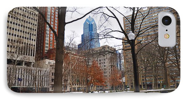 Rittenhouse Square In Wintertime IPhone Case by Bill Cannon