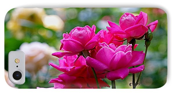 Rittenhouse Square Roses IPhone Case by Rona Black