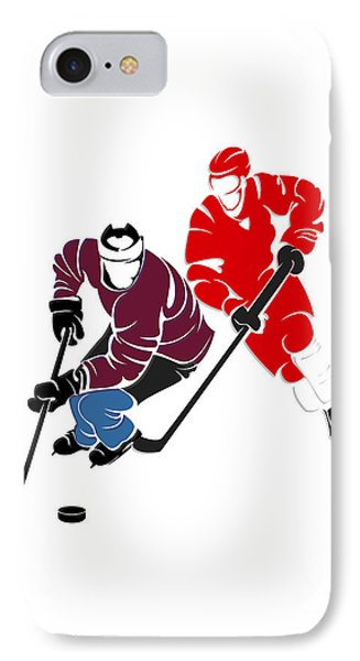 Rivalries Avalanche And Red Wings IPhone Case by Joe Hamilton