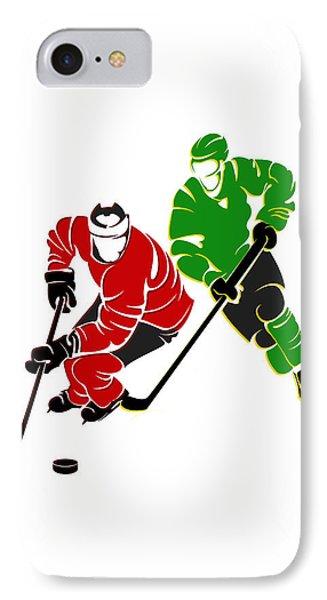 Rivalries Blackhawks And North Stars IPhone Case by Joe Hamilton