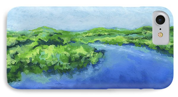 IPhone Case featuring the painting River Bend by Stephen Anderson