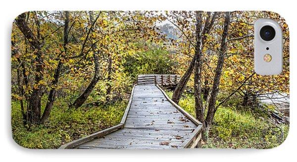 River Boardwalk IPhone Case by Debra and Dave Vanderlaan