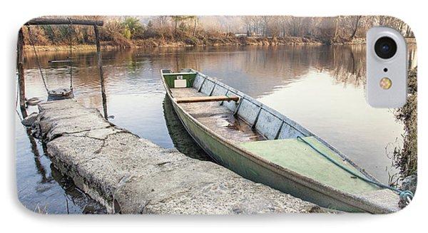 River Boat IPhone Case by Alfio Finocchiaro