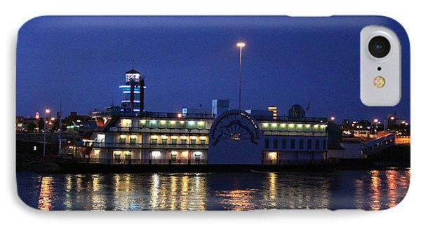 River Boat Casino IPhone Case by Yumi Johnson