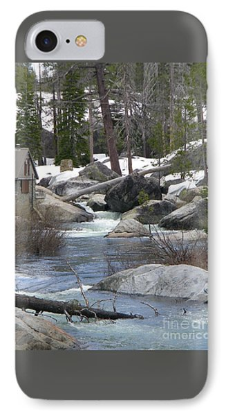 IPhone Case featuring the photograph River Cabin by Bobbee Rickard
