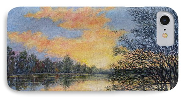 IPhone Case featuring the painting River Dusk # 2 by Kathleen McDermott