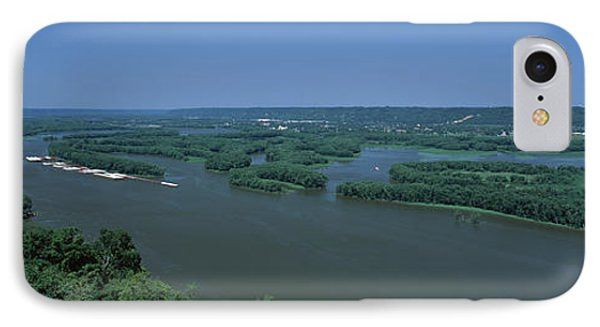 Marquette iPhone 7 Case - River Flowing Through A Landscape by Panoramic Images