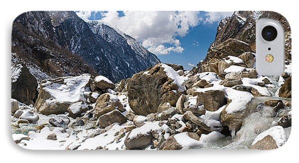 River Flowing Through Rocks, Modi Khola IPhone Case