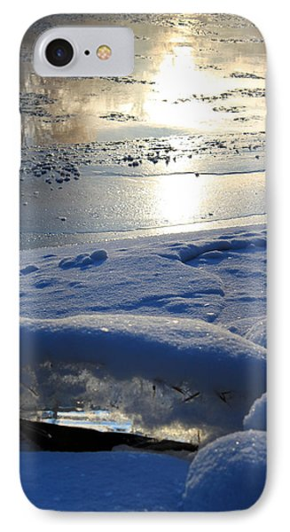 River Ice IPhone Case by Hanne Lore Koehler