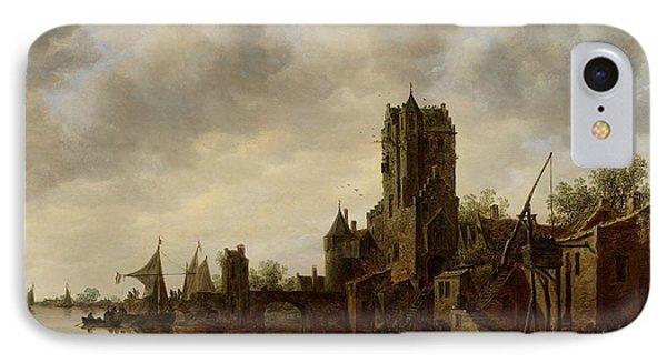 River Landscape With The Pellecussen Gate Near Utrecht Phone Case by Jan Josephsz van Goyen