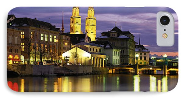 River Limmat Zurich Switzerland IPhone Case by Panoramic Images