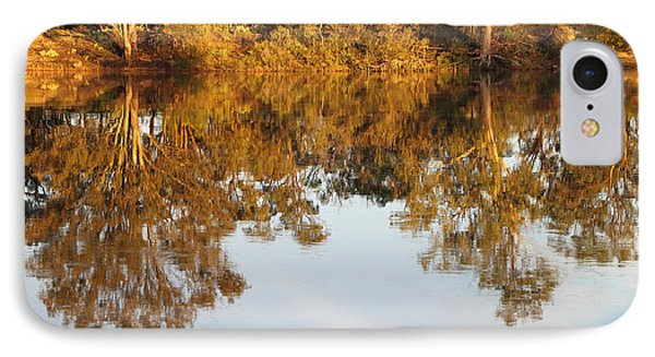 River Murray Reflections Early Evening Phone Case by Carole-Anne Fooks