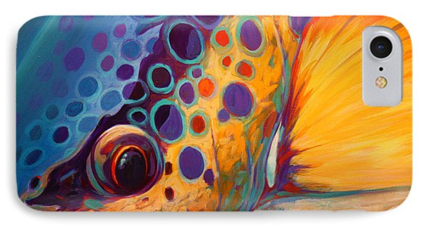 River Orchid - Brown Trout IPhone Case by Savlen Art