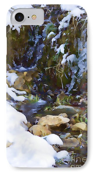 River Painting Phone Case by Donna Greene