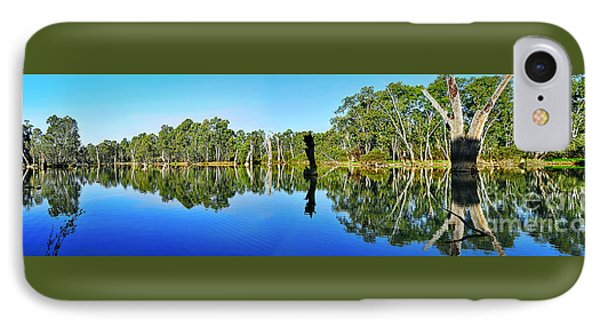 River Panorama And Reflections Phone Case by Kaye Menner
