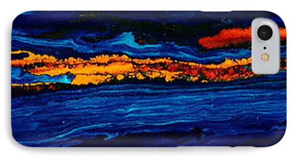 River Path Abstract Art Horizontal Fluid Painting By Kredart IPhone Case