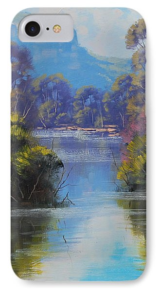 River Reflections Megalong Creek Phone Case by Graham Gercken