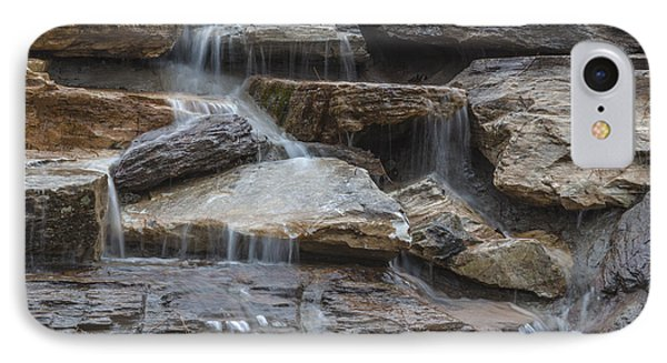 River Rock Waterfall IPhone Case by Michael Waters