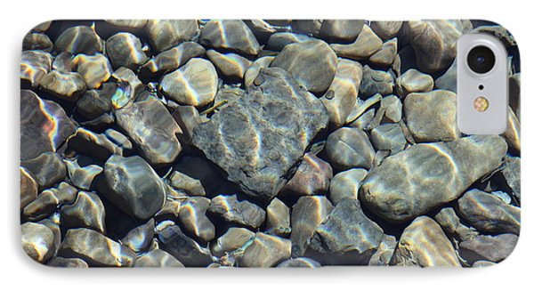 River Rocks One IPhone Case by Chris Thomas