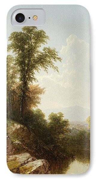 River Scene  Catskill IPhone Case by John William Casilear