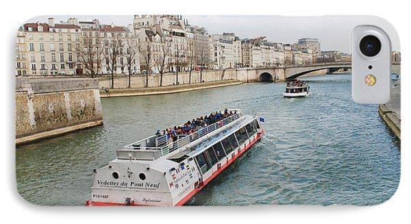 River Seine Excursion Boats IPhone Case