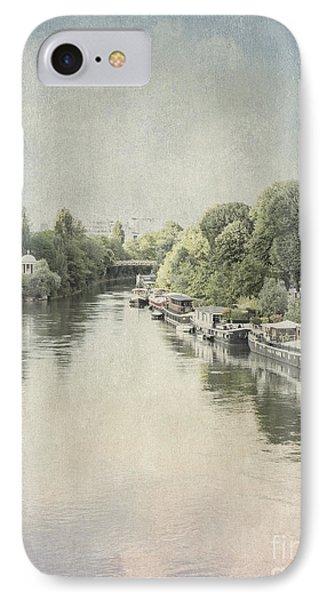 River Seine In Paris IPhone Case by Elaine Teague
