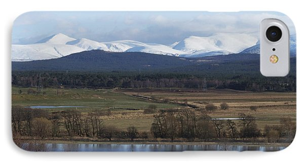 River Spey And Cairngorm Mountains IPhone Case by Phil Banks