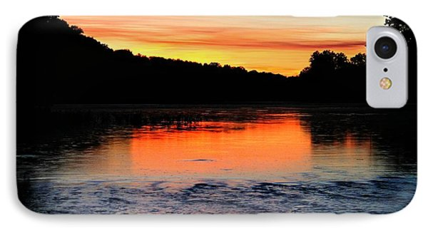 IPhone Case featuring the photograph River Sunset by Candice Trimble