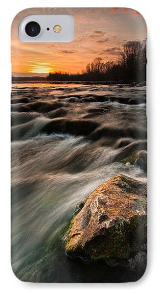 River Sunset Phone Case by Davorin Mance