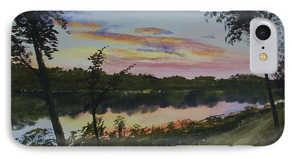 River Sunset Phone Case by Martin Howard