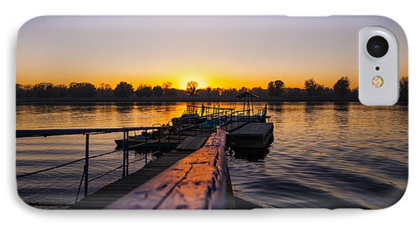 River Sunset Phone Case by Svetlana Sewell