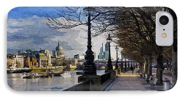 River Thames South Bank London England Uk IPhone Case
