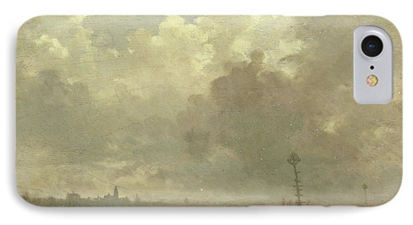 River View In Evening, Adolphe Mouilleron IPhone Case by Litz Collection