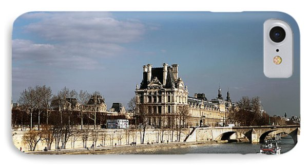 River View In Paris Phone Case by John Rizzuto