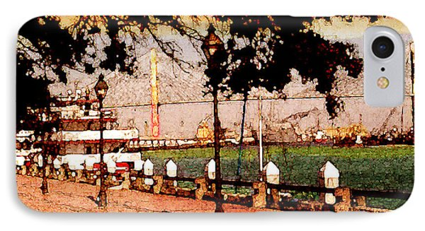 River Walk Of Savannah IPhone Case