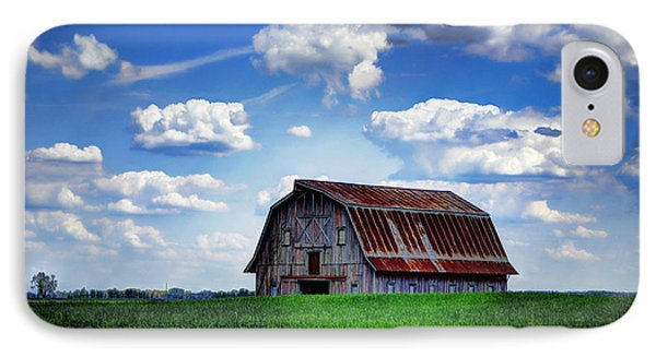 Riverbottom Barn Against The Sky IPhone Case