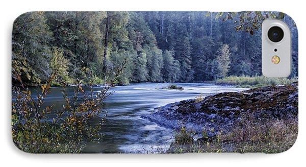 Riverflow At Dusk Phone Case by Belinda Greb