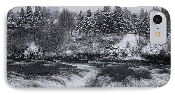 Riverfront Park Winter Storm - Spokane Washington Phone Case by Daniel Hagerman